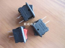 Original new 100% ultra small boat shaped switch pin 2pin KCD5-101 rocker power switch 8.5*13.5MM copper 117s