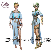 [STOCK] 2017 OW Character Mercy Cosplay Costumes Summer Games The Goddess Of Victory Uniforms For Halloween Carnival Free Ship