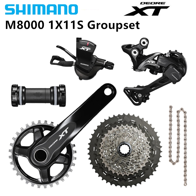 Sporting Goods SHIMANO XT M8000 11S bike Derailleurs 11-46/50T CSMX8 bike Groupset 32/34/36/38T Derailleurs (Rear)