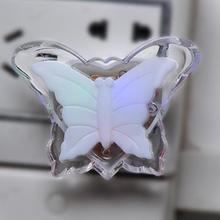 US Plug LED Night Light Lamp Energy Saving Lovely Color Butterfly Romantic Wall Night Lamp Decoration Bulb For Baby Bedroom