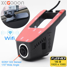 XCGaoon Wifi Car DVR Registrator Digital Video Recorder Camcorder Dash Camera 1080P Night Version Novatek 96655, Cam Can Rotate(China)