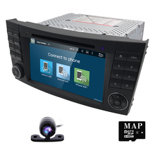RDS WIFI Android 5.1 Car DVD Radio Stereo GPS for Mercedes Benz E W211 W463 CLS W219 SWC Bluetooth DVR DAB+HD-DVB-T DTV rear cam