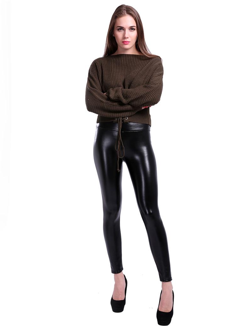 Pantalon legging moulant sexy en simili cuir doublure polaire obviousweb.com