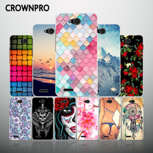 CROWNPRO Silicone Case ZTE Blade GF3 T320 Soft TPU Protective Back Cover FOR ZTE GF3 GF 3 Phone Cases 4.5 inch