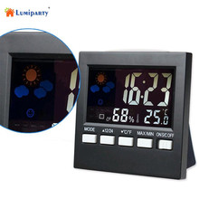 LumiParty Fashion New Multifunction Electronic Thermometer and Hygrometer with Alarm Clock Weather Station-30(China)