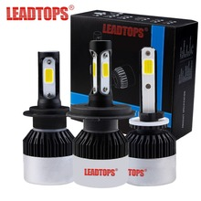 LEADTOPS Car Headlights Kits H7 LED H4 HB3 H11 H1 9005 9006 Auto Bulb - 6500K CCT 72W 9000LM - Automobiles Headlamp FB(China)