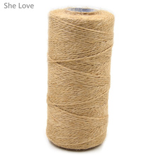 100 Meters Natural Dry Twine Cord Jute Twine Rope Thread For DIY Decor Toy Crafts Parts(China)