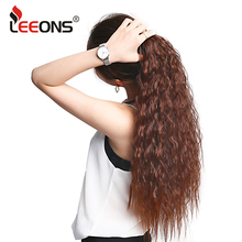 Buy Leeons Hairpiece Heat Resistant Synthetic Hair Tail Clip Kinky Curly Hair Extension Long Ponytail Clip Hair Women 22Inch for $3.99 in AliExpress store
