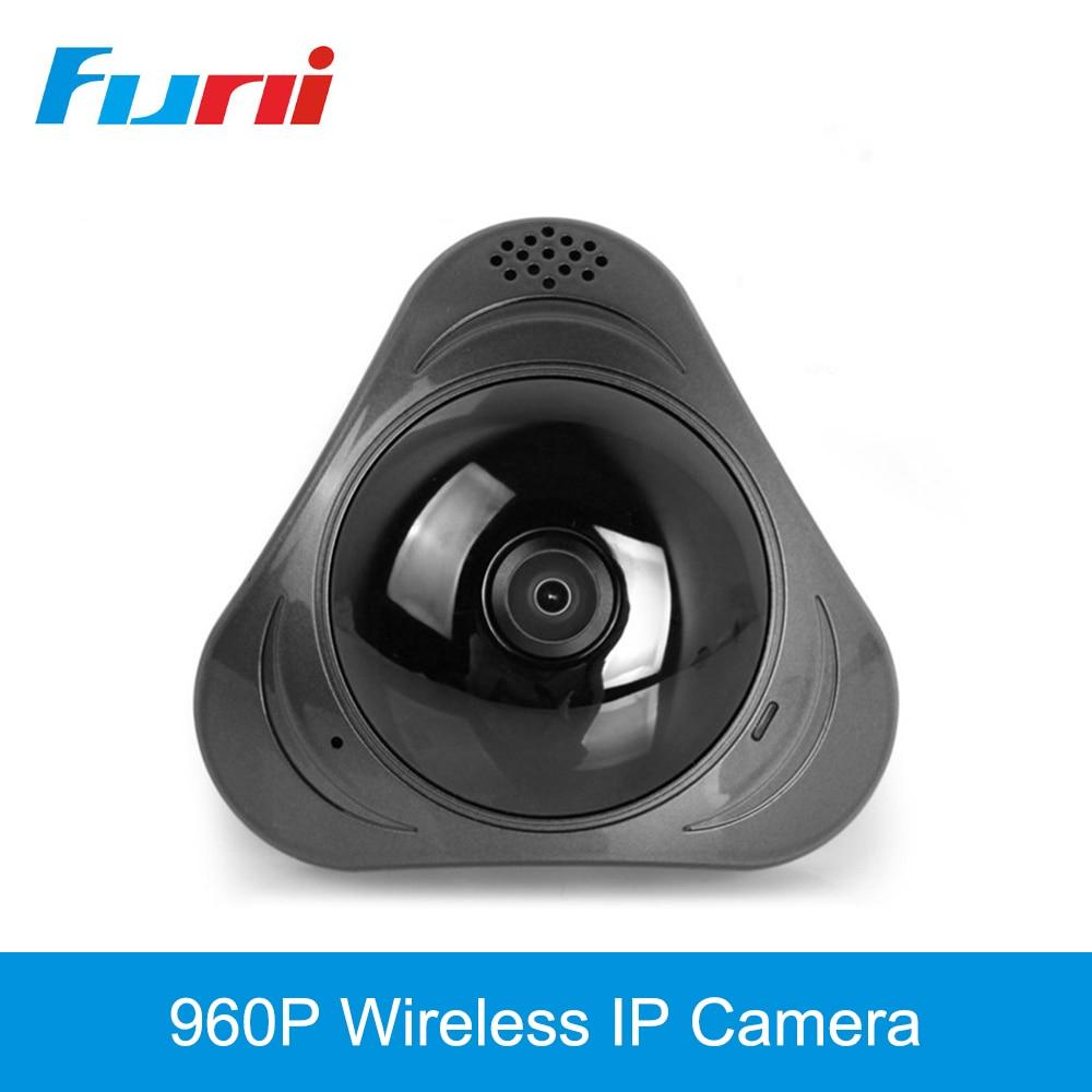 Funi 960P Wireless IP Caamera Wi-fi CCTV Camera 360 Degree Fisheye Panoramic IR Night Vision 3D VR Panorama IP Cam Baby Monitor<br>