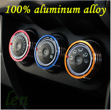 case for mitsubishi ASX aluminum alloy accessories air conditioning knob DIY protection decorative circle car styling