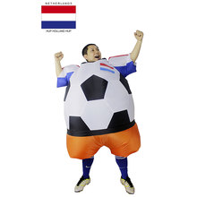 netherlands holland soccer player halloween costume adult football costume for men women unisex party bar club cosplay clothing - Halloween Costume Football