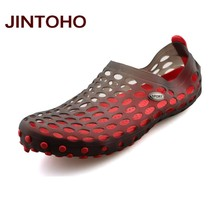 JINTOHO New 2017 Famous Brand Casual Men Sandals Fashion Plastic Sandals Summer Beach Shoes Water Shoes Slippers Fast Shipping