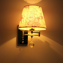 Adjustable  rotatable reading lamp swinging arm wall sconces swinging arm wall lamp contemporary wall lighting with switch