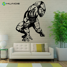 American Football Wall Vinyl Decal Sport Super Bowl Sticker Football Player Silhouette Vinyl Stickers Home Decor Murals  A759