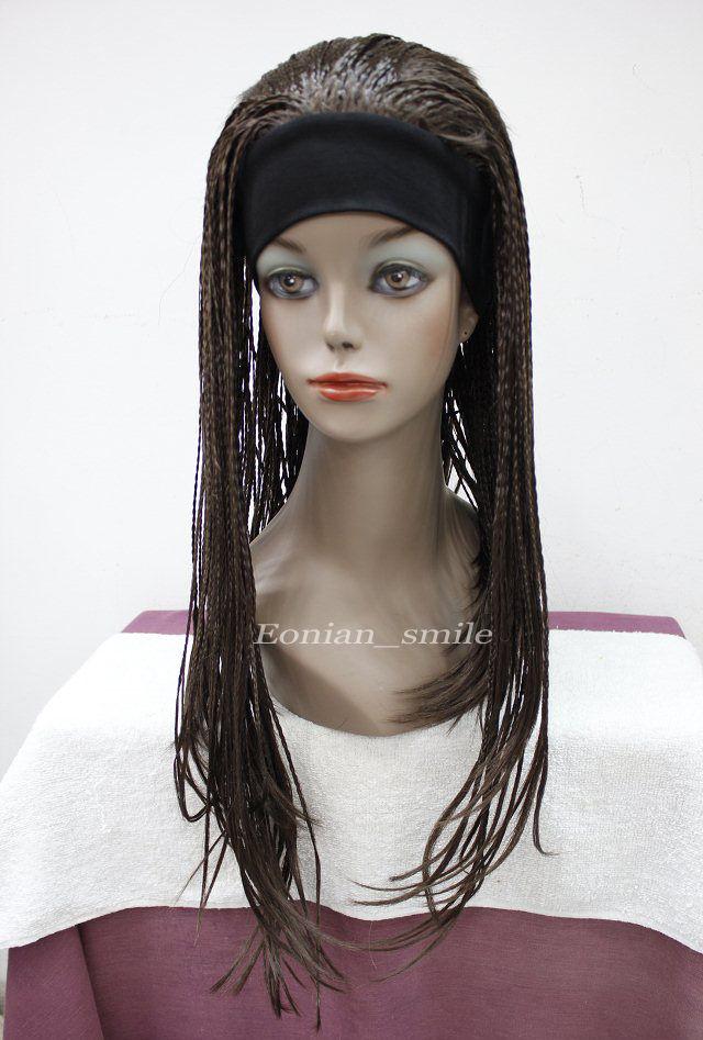 perruque  Dark Brown Long unique Man-made braids 3/4 half wig with headband ETLG017       Ladies   hair Wigs<br><br>Aliexpress