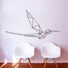 Removable Hummingbird Geometric 3D Decal Home Decor Bedroom Flying Bird Art Decor Vinyl Wall Sticker  M415