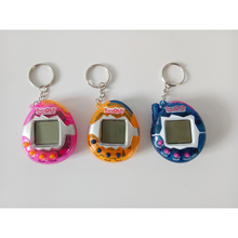 Random Color Lovely Pet Toy Retro Electronic Game Machine Keychain Gift