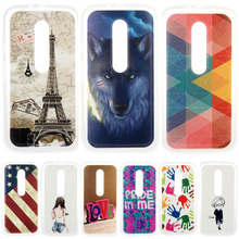 Personality Painted patterns Soft TPU Back cover For Motorola Moto G3 G 3rd Gen XT1541 G 3 Cover 2015 Cell Phone Protective Case