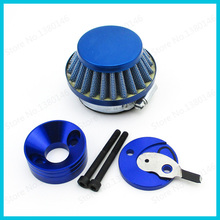 Racing Blue Air Filter Adapter Velocity Stack V-Stack For Gas Scooter Cat Eye Mini Pocket Bike Minimoto