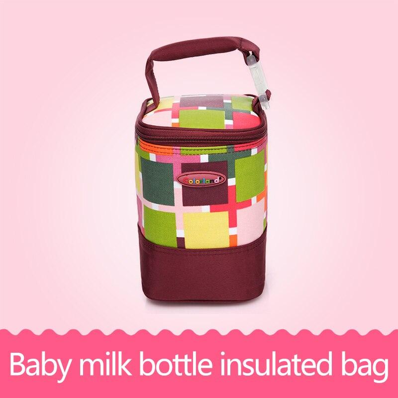 Baby Feeding Bottle Insulation Bag Warmer Mummy Tote Bags Waterproof Mummy Bag Stroller Hanging Multi Functional Handbag<br>