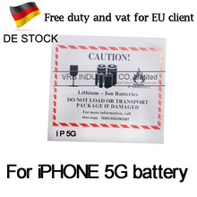 40pcs Zero cycle For IP 5g 1440mAh brand new with best motherboard Mobile Phone Battery DHL fast shipping without duty and vat