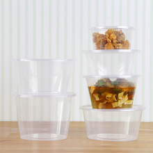 450ml Eco-friendly Disposable lunch boxes Fruit Storage Boxes Transparent meal box Takeaway packaged fast food boxes