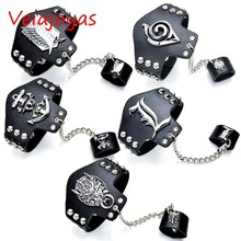 Cosplay Jewelry Death Note Naruto Final Fantasy Attack On Titan Leather Bracelets Anime Luffy Punk Bracelet Bangle Women Gifts