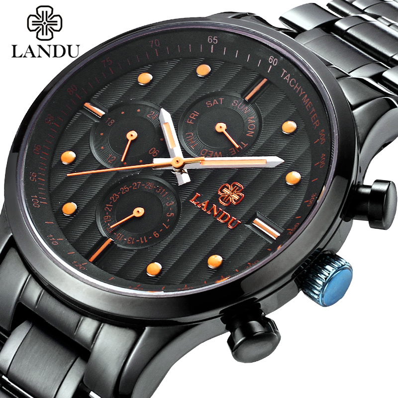 Multifunctional Military Men Waterproof Quartz Wristwatches Mens Watches New Brand Stainless Steel Sporty Watch Male  Clock<br>