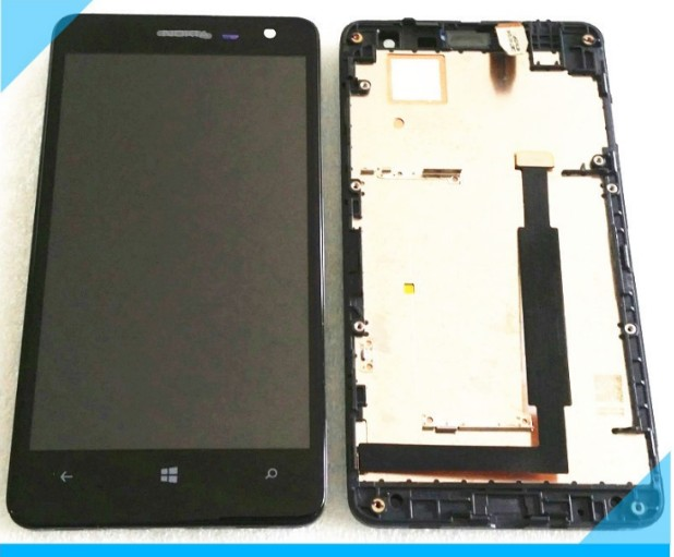 Original Full LCD Display Touch Screen Digitizer Assembly+Frame For nokia Lumia 625 RM-941 RM-943 Free shipping<br><br>Aliexpress