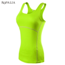 ROPALIA Compression Under Base Wear Womens Sleeveless Tank Tops Ladies Casual Shirts Cami Vest(China)