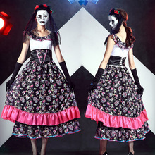 Vampire Zombie Cosplay Ghost Bride Costumes Witch Princess Dress Sexy Halloween Costumes for Women Vampire Fancy Dress(China)