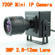 1280 * 720P HD 1.0MP Varifocal zoom lens 2.8-12mm ONVIF 2.0 Mini  IP Camera Network Camera Support P2P Smart  Phone View