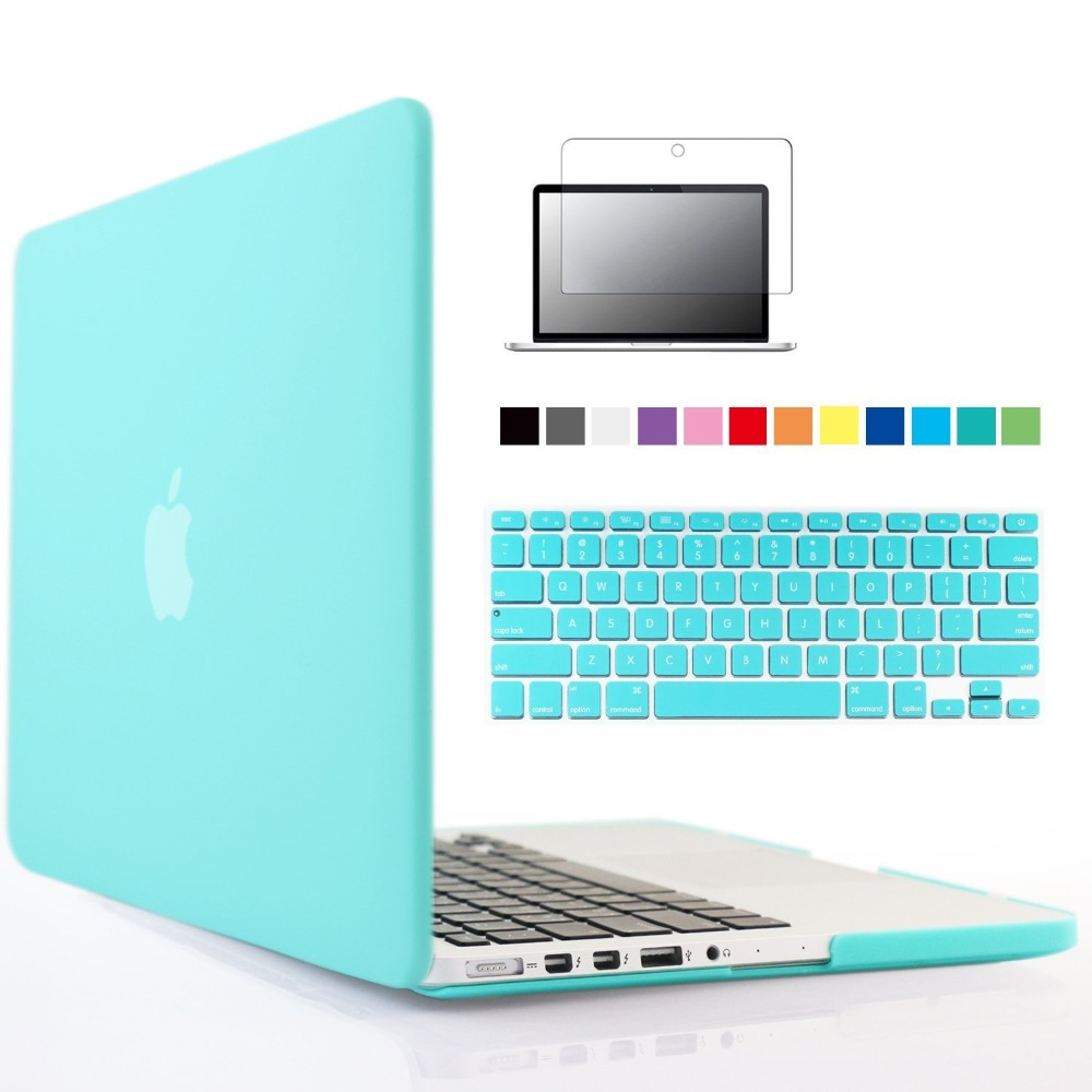 Rubberized Crystal/Matte Hard Case Cover For Macbook Pro retina 13 (A1425) inch sleeve with keyboard cover maletin para portatil<br><br>Aliexpress