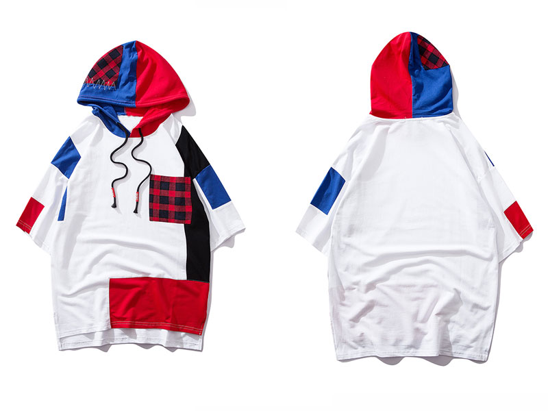 Color Block Patchwork Hoodies 2