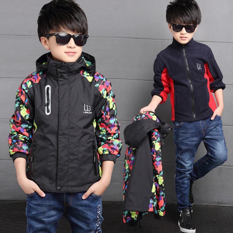 Winter Thicken Double-deck Waterproof Windproof Boys Girls Jackets Children Outerwear Warm Coat Sporty Kids Clothes For 3-14T<br><br>Aliexpress