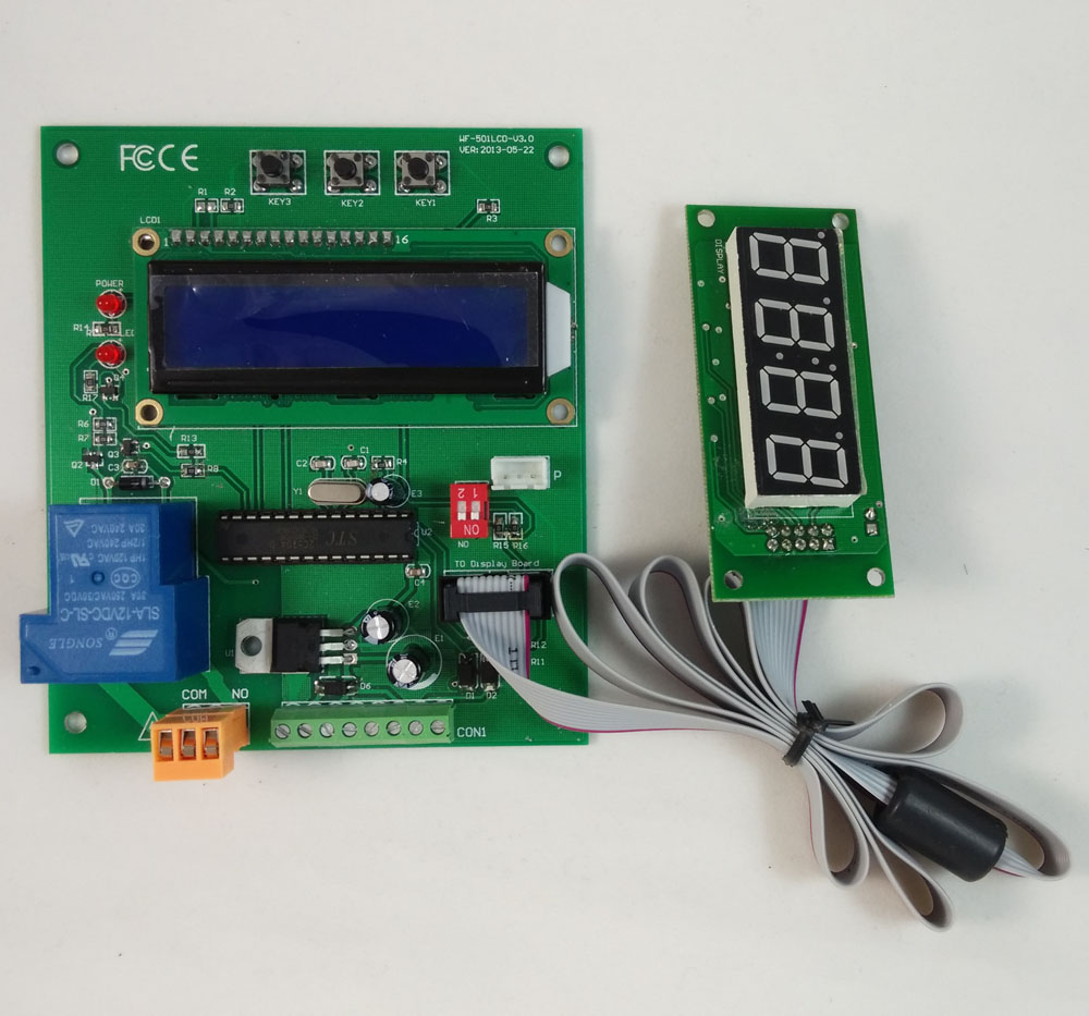 Coin acceptor operated timer Control Board working with pulse output coin validator and bill acceptor<br>