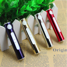 2017 selling electronic cigarette lighter lighters USB flame-free wheel lighter windproof lighters metal fashion