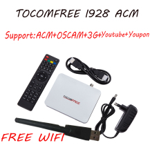 Receptor satelital Tocomfree i928 ACM+1pc usb wifi+IKS+NEWCAM+antena dish de tv satelite for chile brazil for Latin America(China)