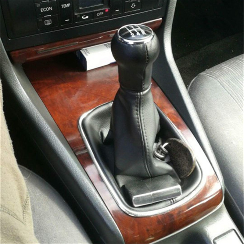 5 Speed Manual Gear Stick Short Shift Knob Lenther for Audi A4 B5 A6 C5 A8