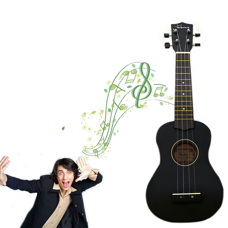 Exquisite Black Beginners Ukulele Soprano Musical Instrument Small Size JUL12_20<br>