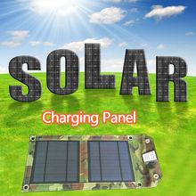 Solar Charger 5W SunPower Solar Panel with SolarIQ Technology Single USB Port for iPhone, ipad, iPods, Samsung, Android Tablets(China)