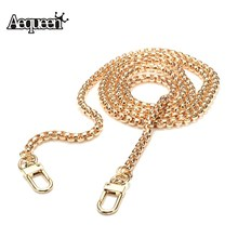 Aequeen New Shoulder Bag Straps Metal DIY Bag Chain High Quality Bag Metal Strap Accessories Clutch Bag Straps Snake 120CM(China)