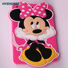 Case For IPAD MINI 1 & 2  New Arrive 3D Cartoon Cute Hands On Face Minnie Shape Tablet Protective Case Soft Silicon Back Cover