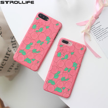 STROLLIFE Cute Honey Peache Phone Cases For iPhone 7 case Ultra thin Matte Hard Plastic Back Cover Coque For iPhone 7Plus 6 6s