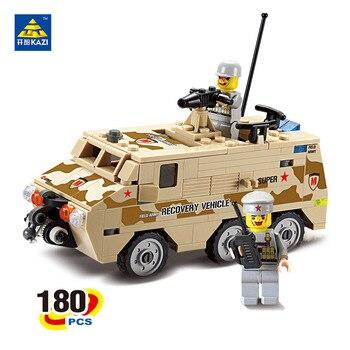 Kazi militar armored vehicles bloques 180 unids ladrillos bloques huecos de los juguetes educativos para los niños