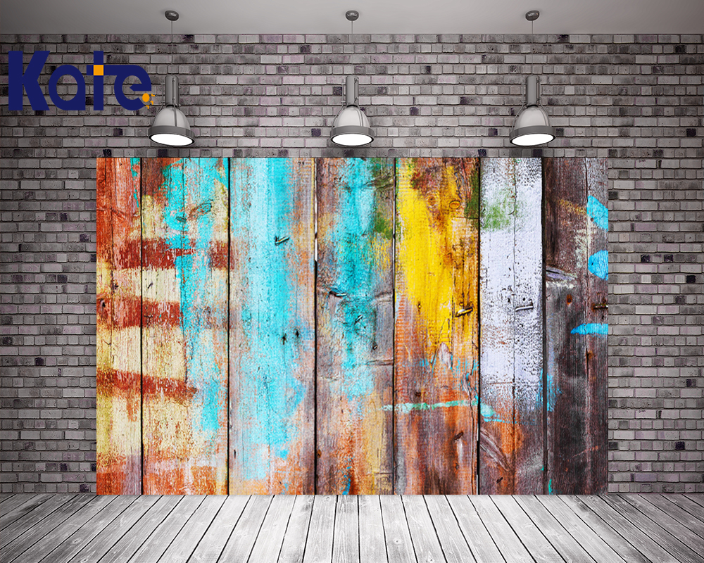 10x20FT Kate Newborn Colorful Old Wood Photography Backdrops Retro Style Background Children Backdrops Photo Studio<br>