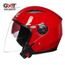 GXT helmets for women dual visor dirt biker Four season General UV protection electric motorcycle MOTO bicycle scooter safety
