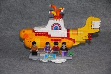 New 21012 classic series the Yellow Submarine Model Building Block set Compatible 21306 classic ship-styling Toys for children