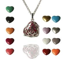 Hollowed big rose angel srufer necklace Mexican music pregnancy heart belly ball fashion jewelry(China)
