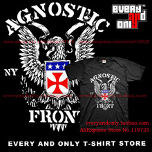 Agnostic Front band New Eagle 100% Cotton Loose printing T-shirt Tee T(China)